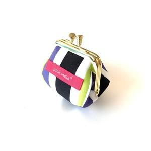 北欧デザイン がまぐちコロロン財布 | multi stripe