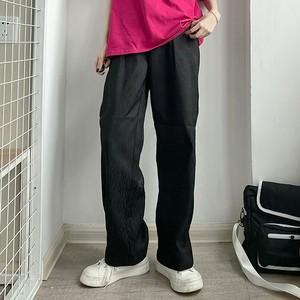 薄手ブラックストレートパンツ(全2色) / HWG464
