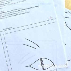 刺繍ふきん図案/Cat face/データ販売