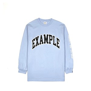 EXAMPLE COLLEGE ARCHE LOGO L/S TEE / LIGHT BLUE