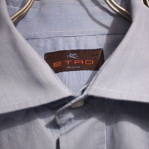 ETRO Wide Spread Collar Shirt