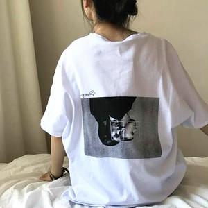 【トップス】シンプル原宿風BF風ゆったり感ファッションTシャツ28990394
