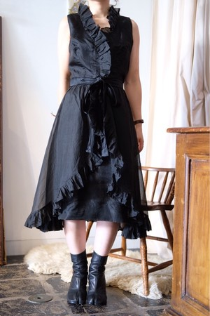 Vintage black sheer dress