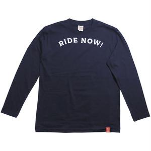 RIDE NOW!紺 (ポケット同⾊) (長袖)