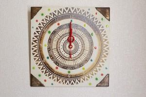 時計(四角)-夏の太陽-