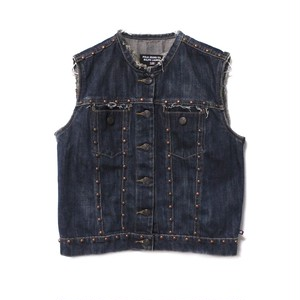 POLO RALPH LAUREN studs denim vest