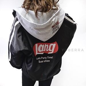 《送料無料》Langナイロンパーカー 【871087L153】スウェットパーカー