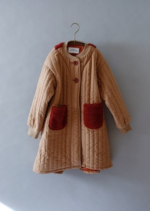 【19AW】ミチリコ (michirico) - quilting coat/ベージュ[S・M]