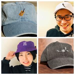 【オリジナルオーダー刺繍】9800円〜 手縫い刺繍キャップ(CAP)
