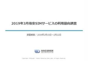 2019年3月格安SIMサービスの利用動向調査