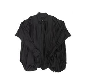 597SHM1-S-BLACK / タックドフォーマルシャツ ver.2