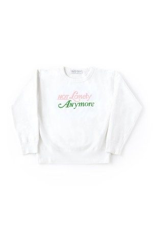 not lonely Any More Crew Sweat shirt White