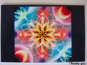 「Ready go」曼荼羅アートポストカード