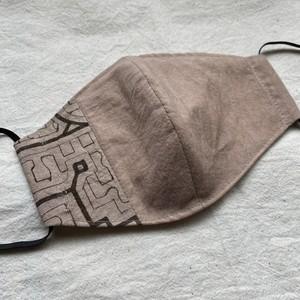 マスク116 ピンク系ベージュ13cm シピボ族の泥染め