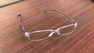 300円 老眼鏡 クリアー/クリアーグレー