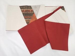 袋帯 鳥の子色 弁柄色 花柄 着物 和服 服飾雑貨 女性 DN-3