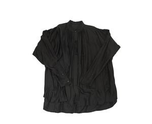 597SHM2-BLACK / シャーリングオーバーシャツ