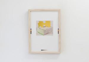 上田良『オブジェの写真の印刷』シルクスクリーン