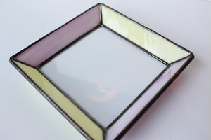 glass lab 「ガラストレイM(イエロー×ピンク)