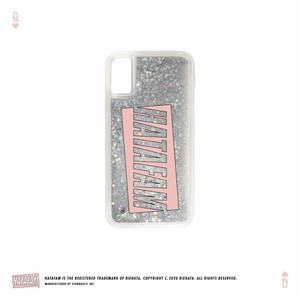 """HATAFAM Logo"" Glitter iPhone Case - Silver Star"