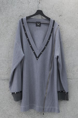 Over Knit Sweater [Gray]