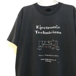 【USED】電気回路 理系 プリント Tシャツ 半袖