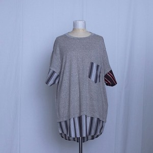 NOZOMI ISHIGURO ノゾミイシグロ 19HMT01015 T-shirt 切替T