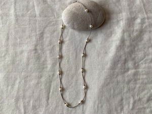 〈vintage silver925〉pearl beaded necklace