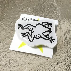 超獣GIGA!ブローチ カエル3