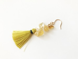 ◇ citrine◇14kgf「hula girl:yellow」ピアス