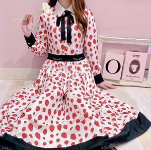 【Sister Jane】Strawberry Court Pleated Midi Dress