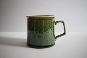 松岡賢司(平安楽堂) マグカップ 網目 緑色