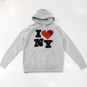 pourton de moi I LOVE NEW YORK CHENILLE PARKA light gray