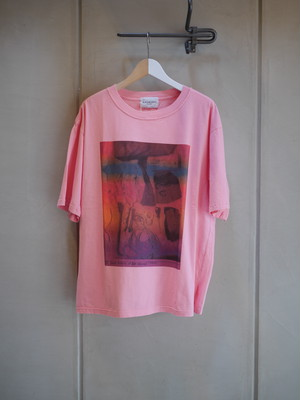 BLACK WEIRDOS / POLICE Photo Tee (PINK)