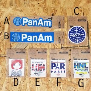 PAN AMステッカー
