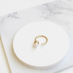 ■solid pearl ring -round / gold-■ ソリッドパールリング ラウンド ゴールド