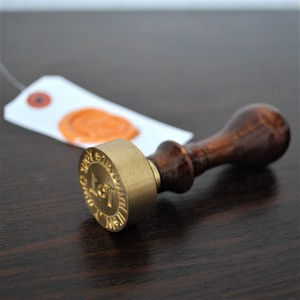 オーダーメイド真鍮製シーリングスタンプ(Lサイズ)