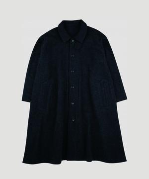 PORTER CLASSIC Wool & Gauze Swing Coat Black  PC-031-1209-10BL