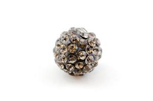 ラインストーンパヴェボール 1個 10mm ブラックダイヤモンド pve-blackdiamond10