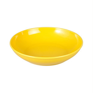 西海陶器 波佐見焼 「コモン」 ボウル 皿 210mm イエロー 13236