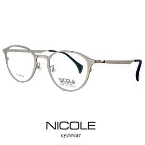 ニコル メガネ NICOLE β チタン ns13270-1 銀縁 nicole ベータチタン 軽量 ボストン ラウンド 丸眼鏡