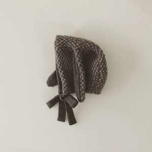 pocopoco rabbit bonnet : milk brown (size XS,S,M)