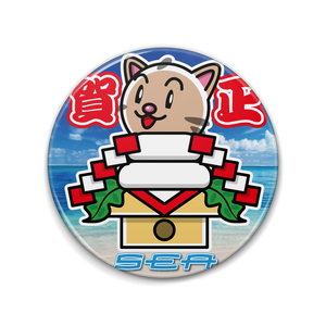 <缶バッチ 76mm>かがみーちゃん餅