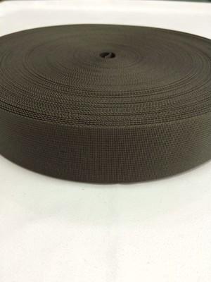 ナイロン 高密度 38mm幅 1mm厚 カーキ 1反(50m)