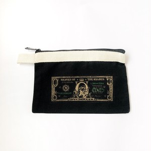 真理藻 ( marimo ) ドル札 ミニ ポーチ ブラック