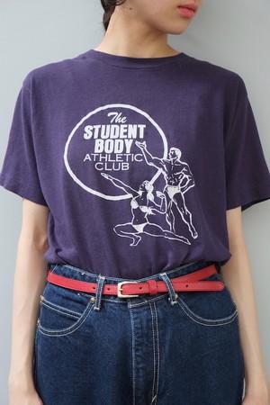 athletic club T-shirt.