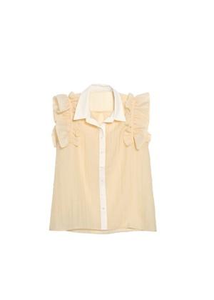 frill seethrough blouse