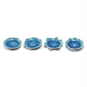 aito製作所 「形 Katachi」豆皿 4枚セット 約7.7×7.5cm あさぎ 瀬戸焼 288545