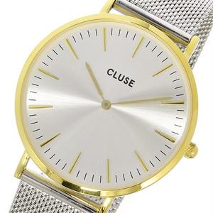 クルース CLUSE ラ・ボエーム メッシュベルト 38mm レディース 腕時計 CL18115 ゴールド/シルバー シルバー