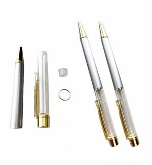 AseiwaA ハーバリウム ボールペン 手作りキット 本体のみ ペン 同色 3本セット (シルバー) B07KLSWRJ5